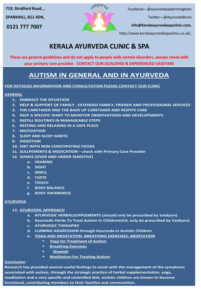 Ayurveda and Autism