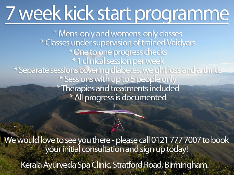7 week Ayurveda kick start programme coming soon...