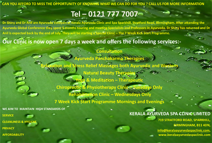 What's available at Kerala Ayurveda Spa Clinic